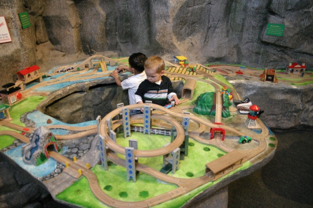 The train table at the museum - always a hit