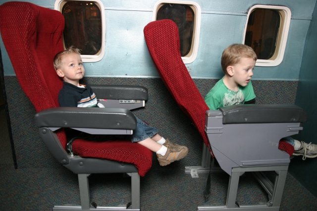Koen and Cooper - flying to China to get Mei Mei