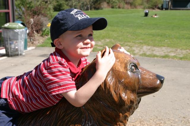 A Big Boy on a Bear