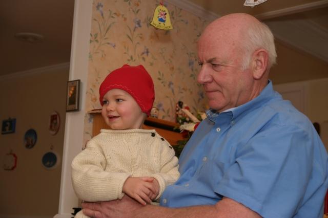Koen and Grampa at Christmas 2008