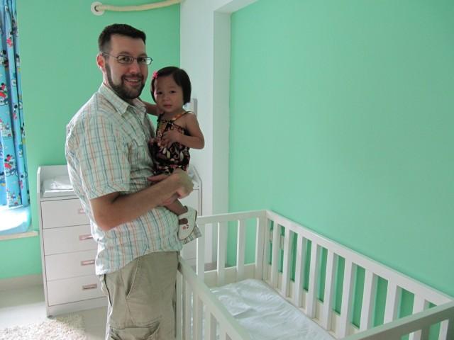 Li Li's crib during the 4 months she was at TCH