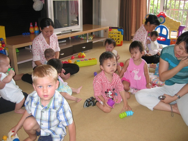 Koen with kids from TCH toddler home.