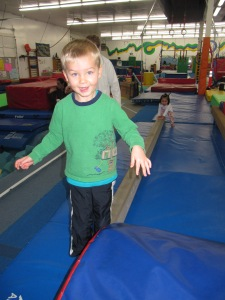 Koen was good at staying on the beam!