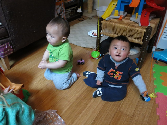 Micah's best buddy's birthday party - these were our travel mates in China and the boys are from the same orphanage.